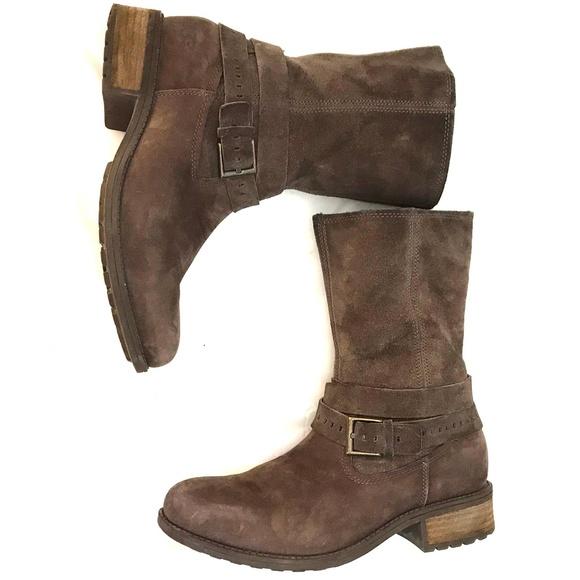 1c13700c88e UGG Kiings Buckle Moto Boot leather mid calf